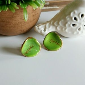 Vintage Lily Pad Earrings